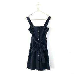 Theory button down 2 black tank dress belted fit